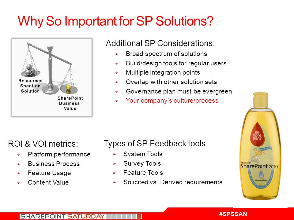 #SPSSAN Why So Important for SP Solutions.