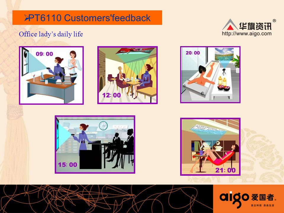 Office ladys daily life PT6110 Customers feedback
