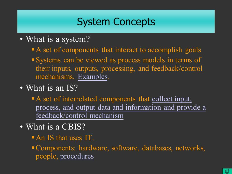 System Concepts What is a system.