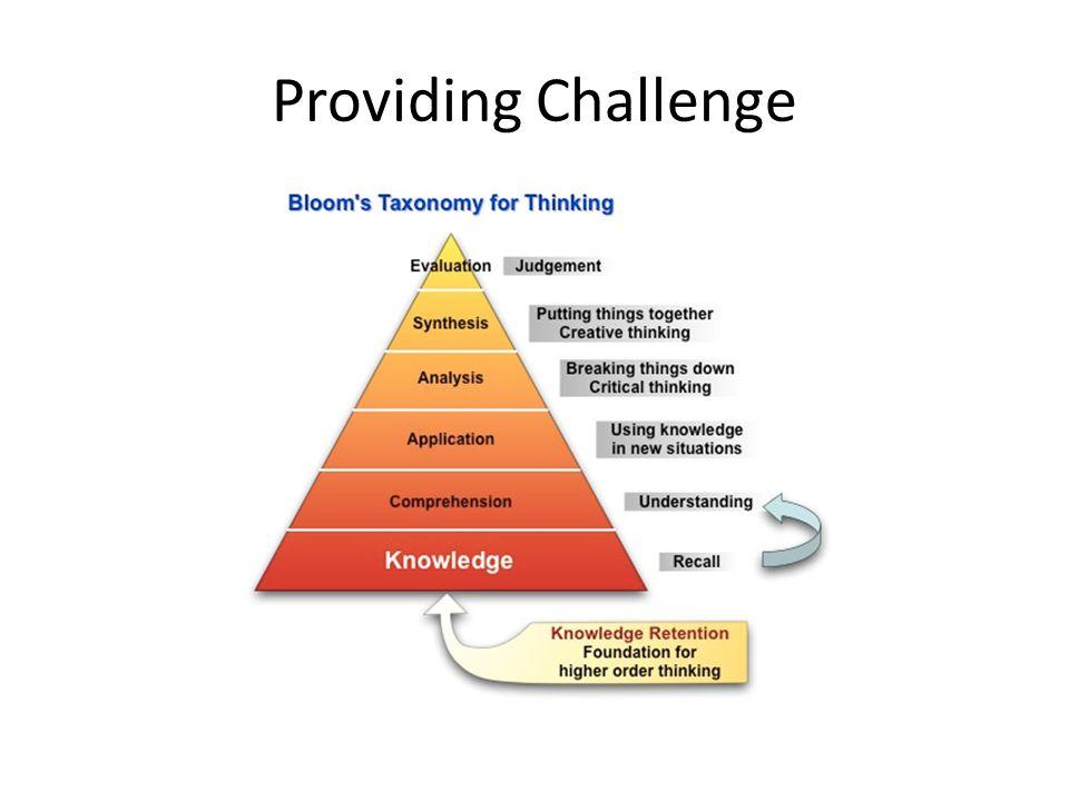 Providing Challenge