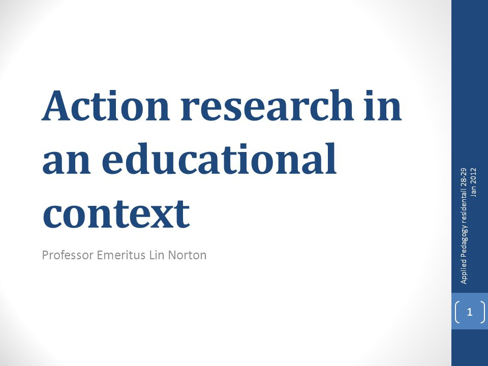 EDU 40017 2 The classic definition of action research Action research is simply a form of self-reflective enquiry undertaken by participants in social situations in order to improve the rationality and justice of their own practices, their understanding of these practices, and the situations in which the practices are carried out (Carr and Kemmis 1986: 162).