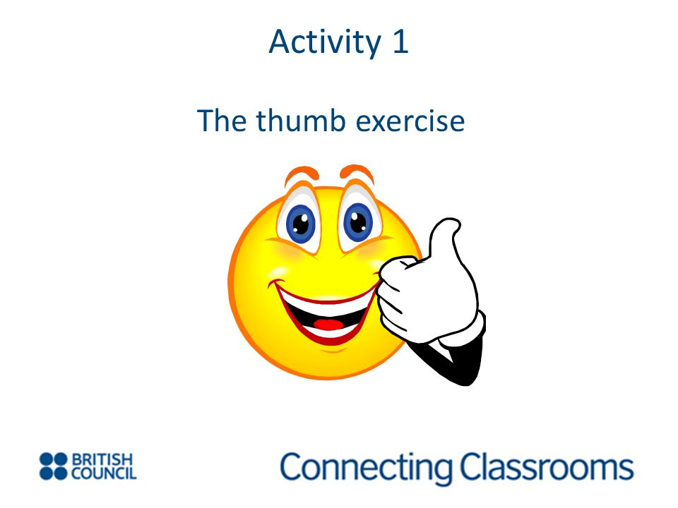 Activity 1 The thumb exercise