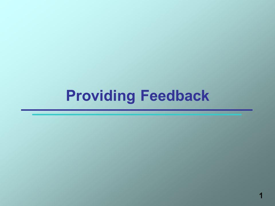1 Providing Feedback