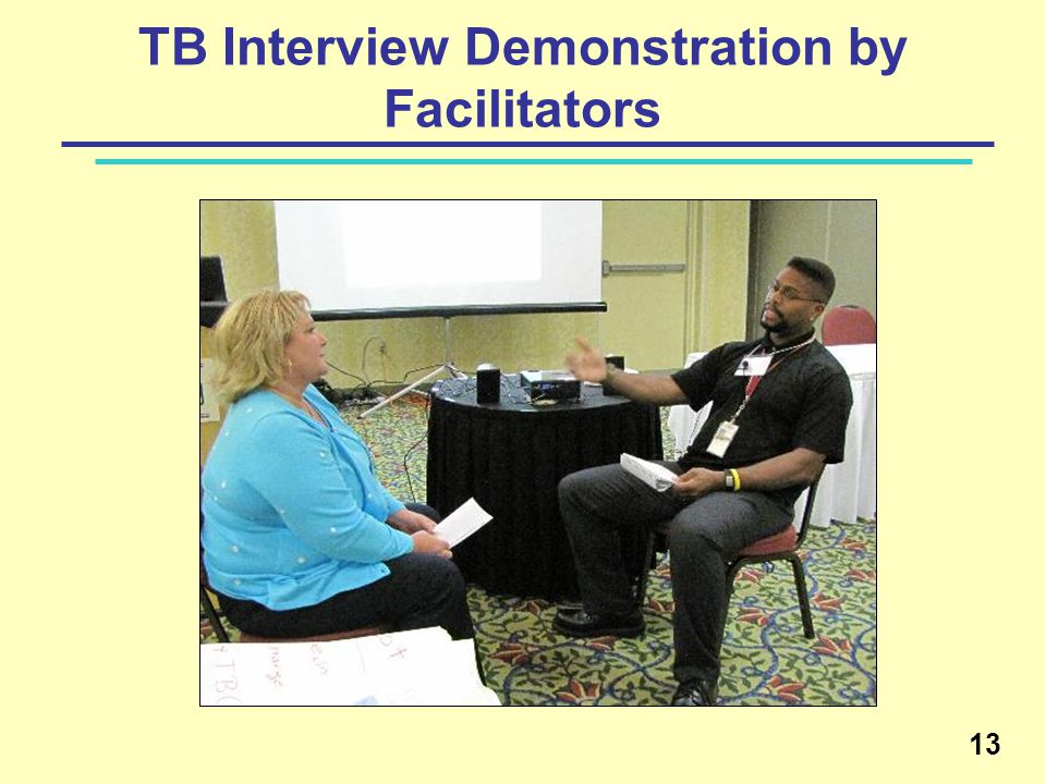 TB Interview Demonstration by Facilitators 13