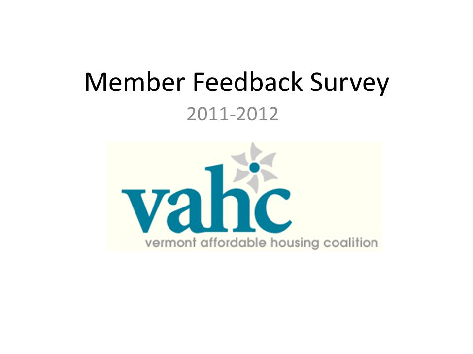 Member Feedback Survey 2011-2012