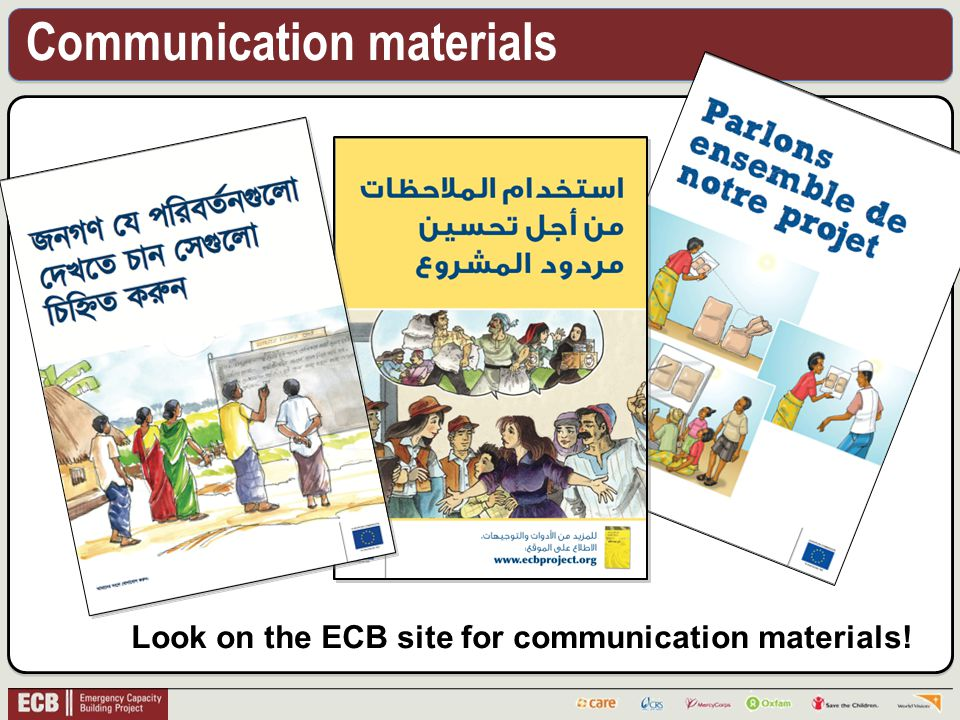 Communication materials Look on the ECB site for communication materials!