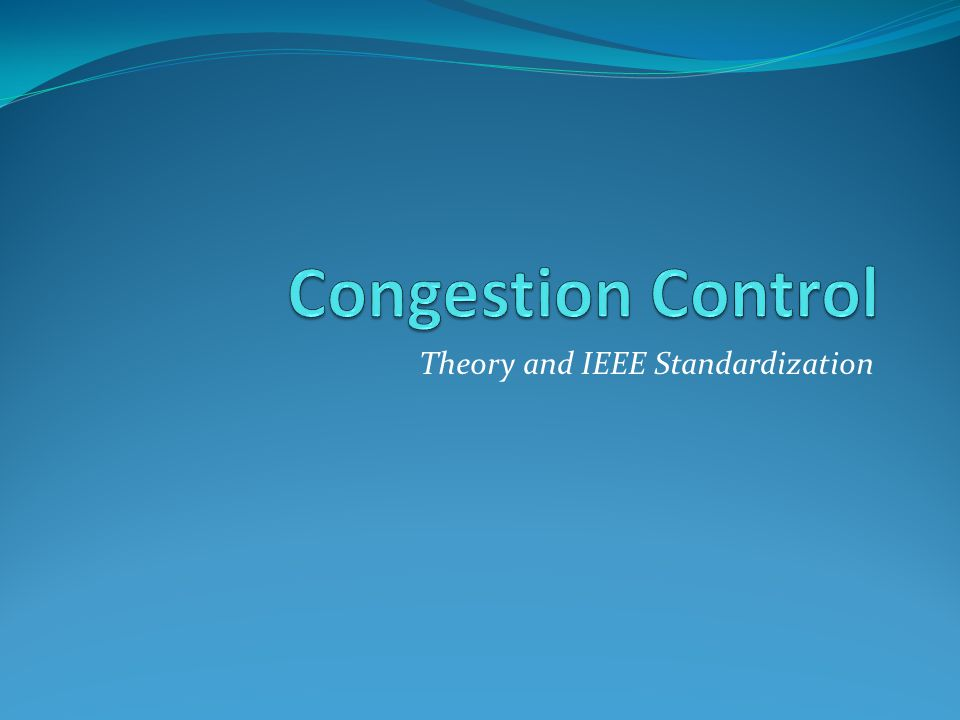 Theory and IEEE Standardization