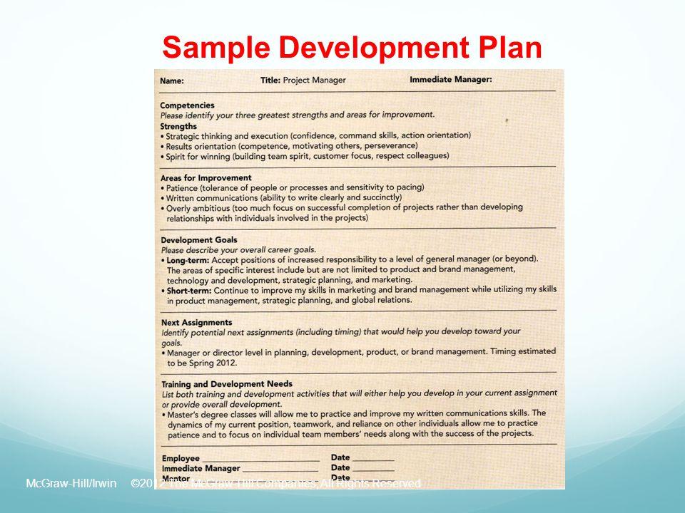 Doc.#570739: Employee Development Plan Template – Employee Career ...