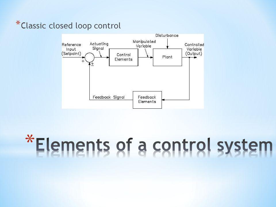 * Classic closed loop control