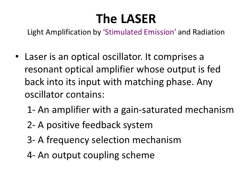 Laser Diode Characteristics Nanosecond & even picosecond response time (GHz BW) Spectral width of the order of nm or less High output power (tens of mW) Narrow beam (good coupling to single mode fibers) Laser diodes have three distinct radiation modes namely, longitudinal, lateral and transverse modes.