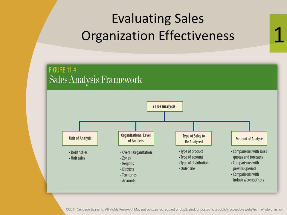 1 Evaluating Sales Organization Effectiveness