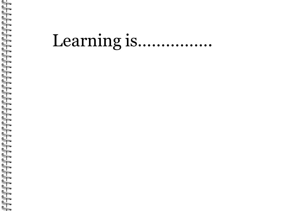 Learning is…………….