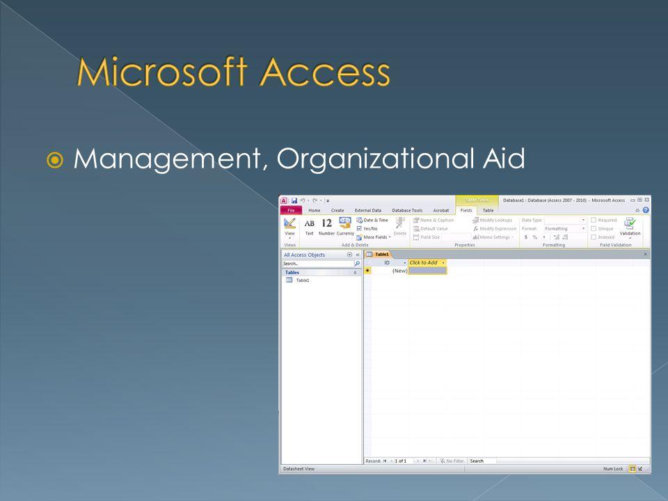 Management, Organizational Aid