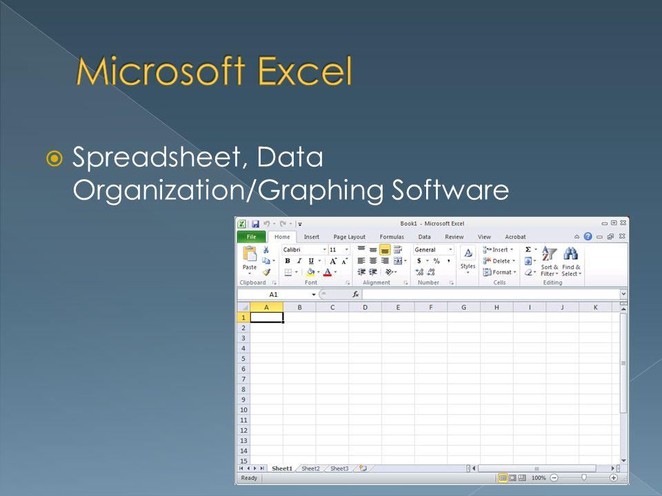 Spreadsheet, Data Organization/Graphing Software
