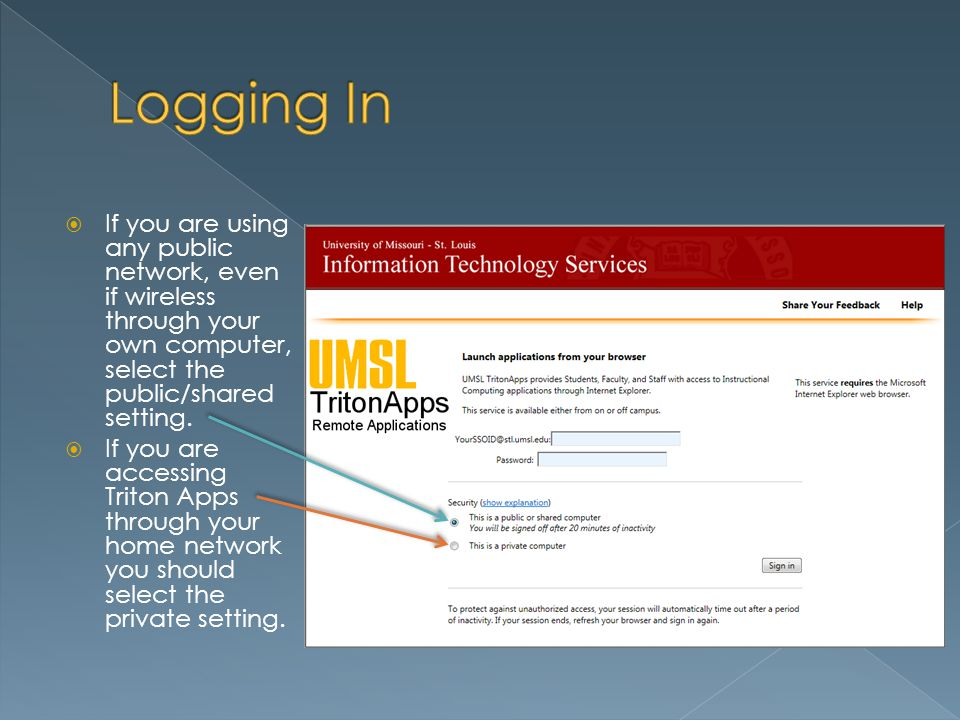 If you are using any public network, even if wireless through your own computer, select the public/shared setting.