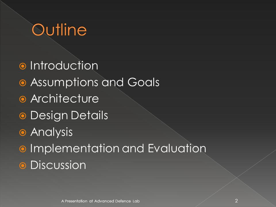 A survey from Arbor Networks shows that DoS attacks continue to grow in both scale and sophistication.(2009) A Presentation at Advanced Defence Lab 3