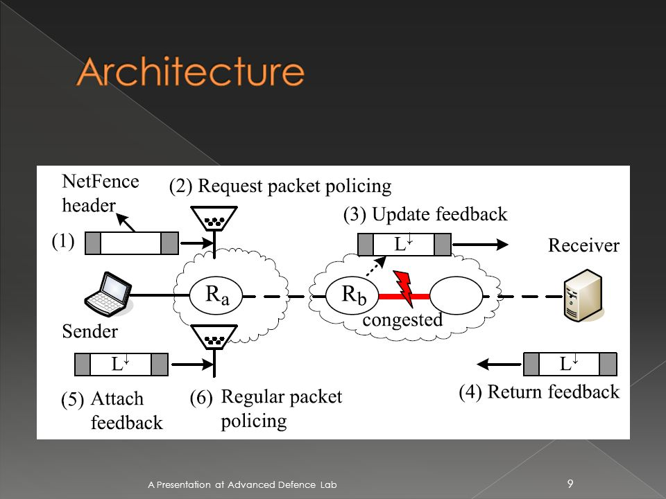 NetFence has three types of packets: request packets, regular packets, and legacy packets.
