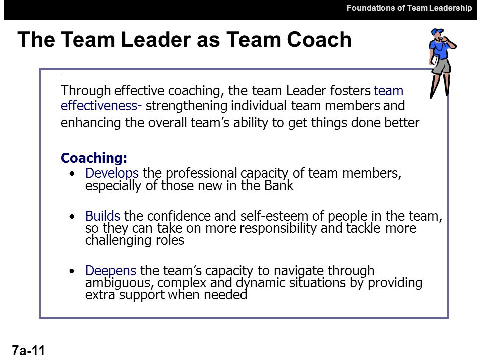 Foundations of Team Leadership 7a-11.