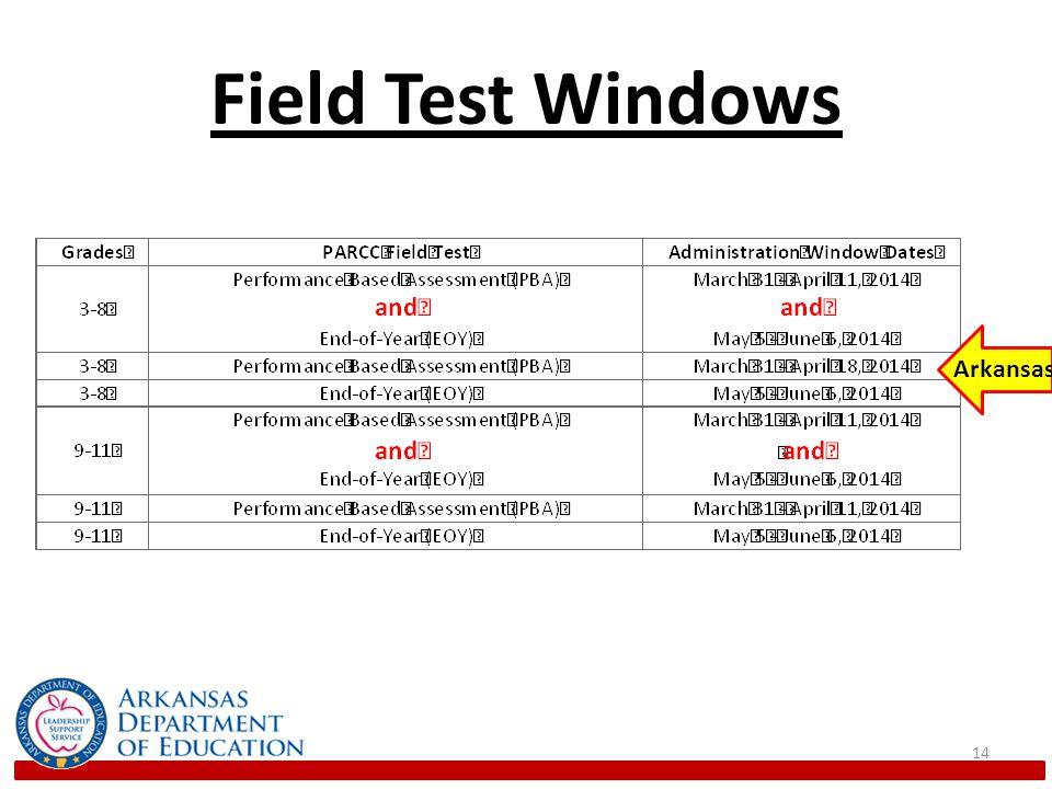 Field Test Windows 14 Arkansas