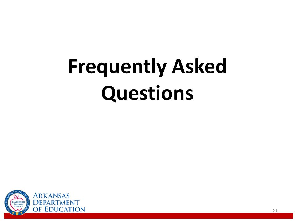 Frequently Asked Questions 21