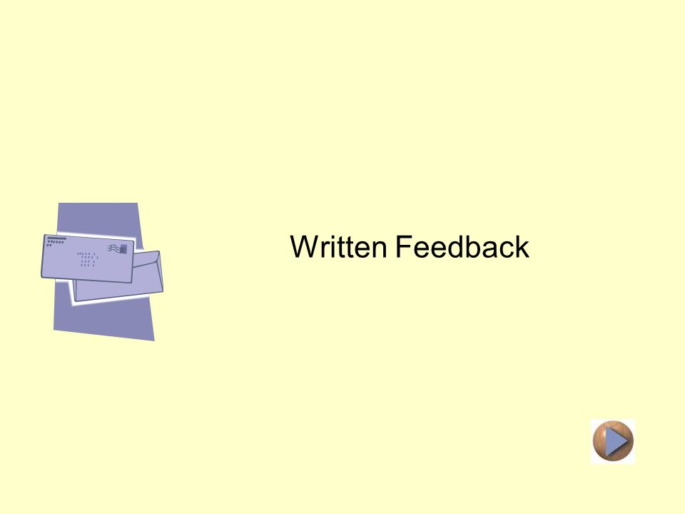 Distance Learning Feedback Written Feedback