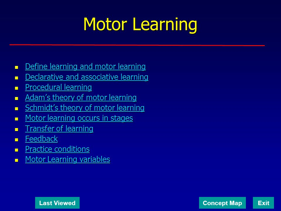 Motor Learning Define learning and motor learning Define learning and motor learning Define learning and motor learning Define learning and motor lear