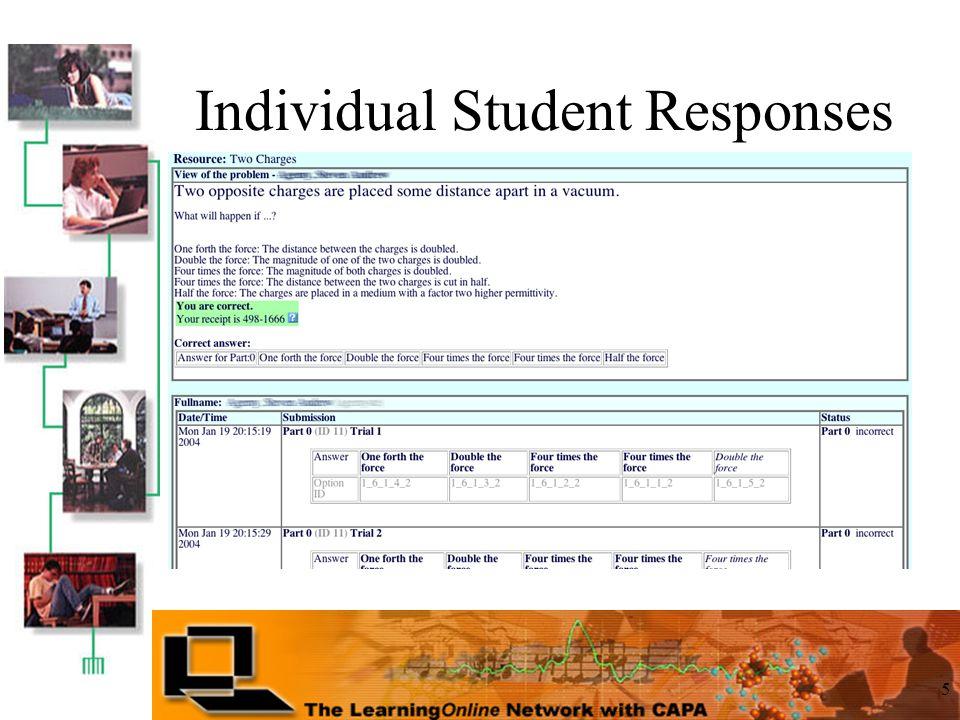 5 Individual Student Responses