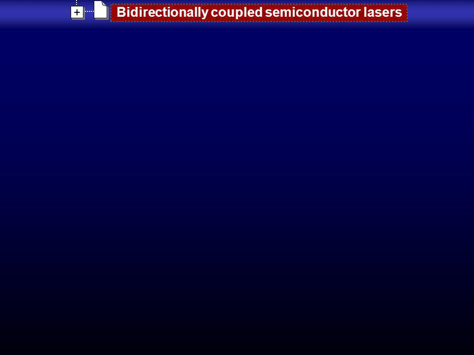 + + Bidirectionally coupled semiconductor lasers