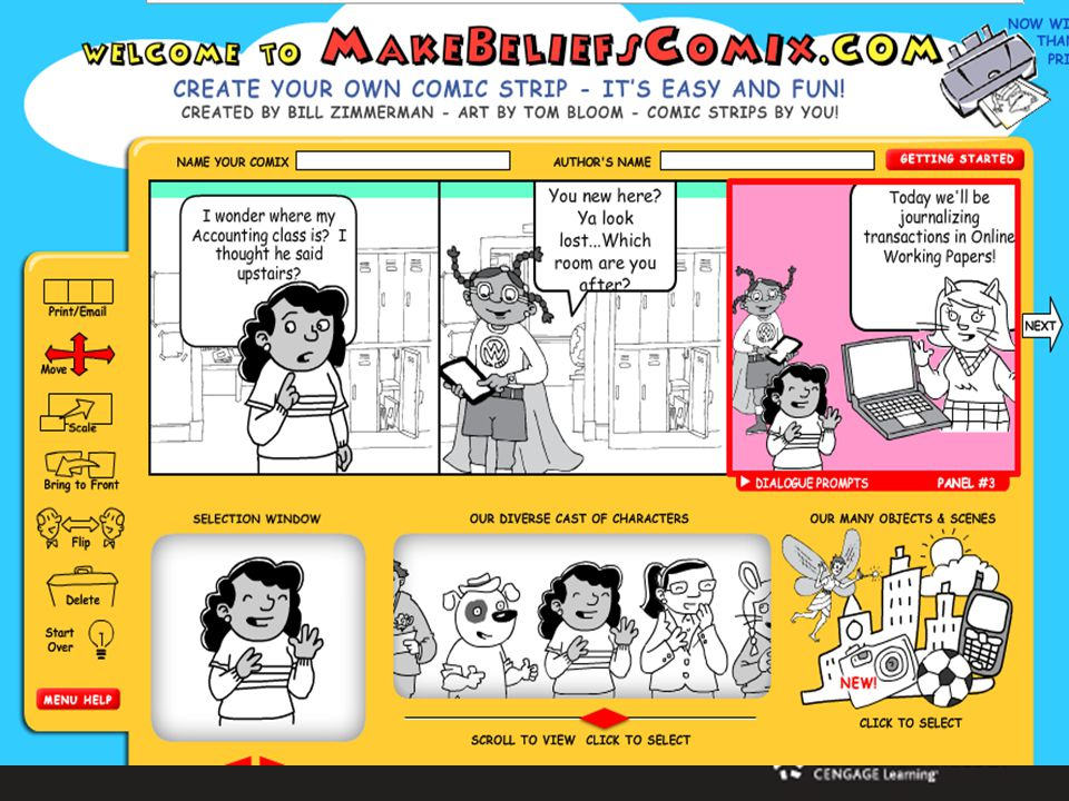 Makebeliefscomix.com Create a comic strip from scratch OR Use a printable strip where you fill in the blanks Over 300+ templates to choose from! Ideas