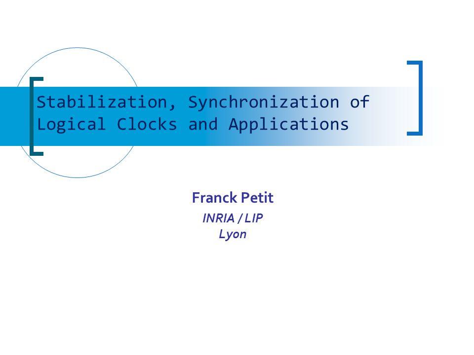 Logical Clock Synchronization 22 Unison 2 3 4 0 4 3 2 1 1 0 +4 +3 +2 +1 +0 K=5 000000000 00 1 000 1 000 111 00 1 00 0 1 2 1111 000 1 222 111 0 11 2 3 2 1 2 1 0 22 2 3 2 2 2 1 0 2 33333 2 1 0 2 3 444 3 2 1 0 Minimality of K ?