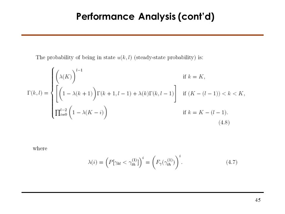 45 Performance Analysis (contd)