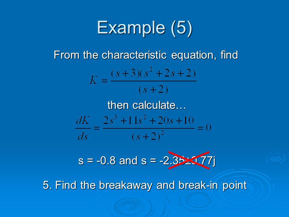 Example (5) 5.