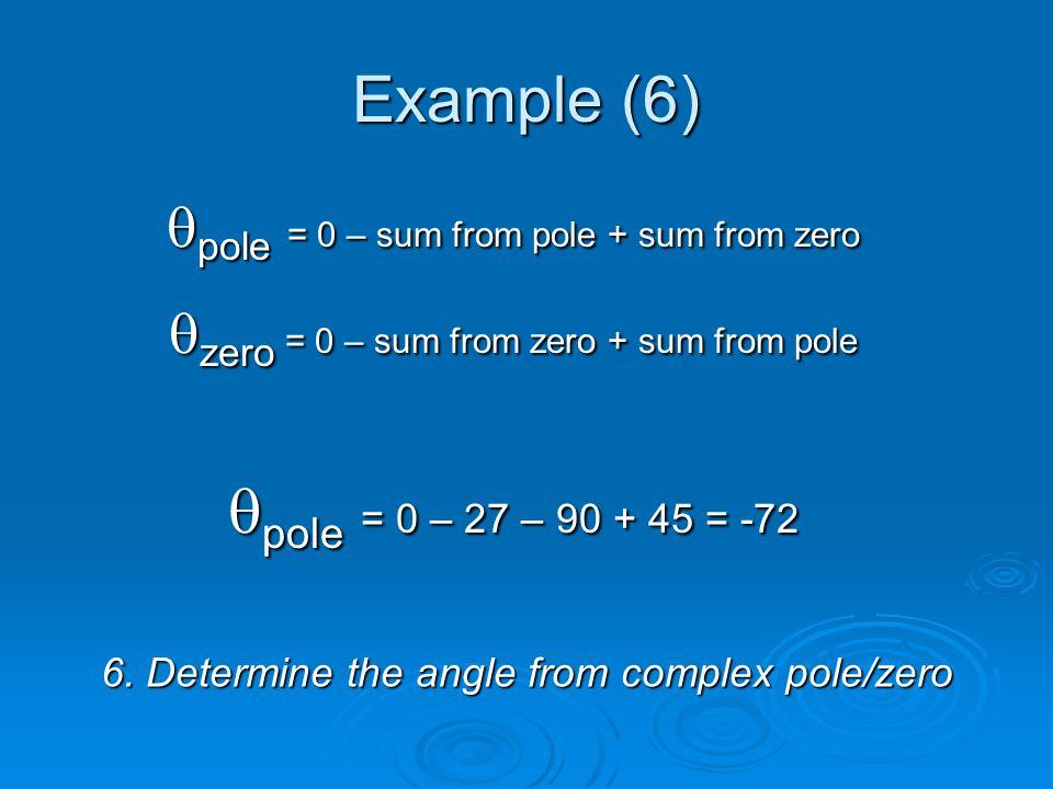 Example (6) 6.
