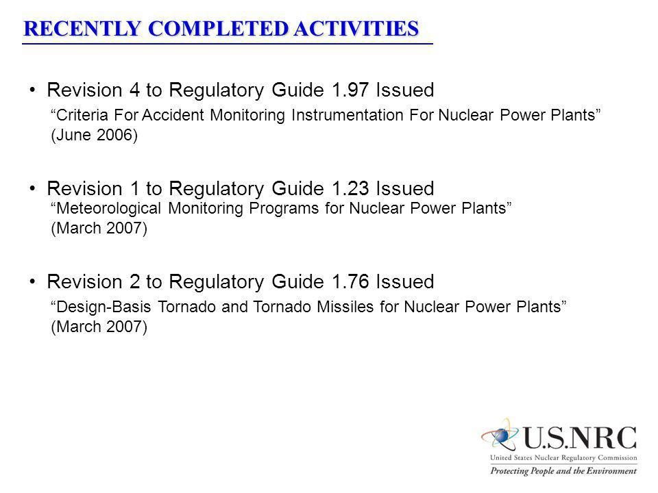 Revision 4 to Regulatory Guide 1.97 Issued Criteria For Accident Monitoring Instrumentation For Nuclear Power Plants (June 2006) Revision 1 to Regulat