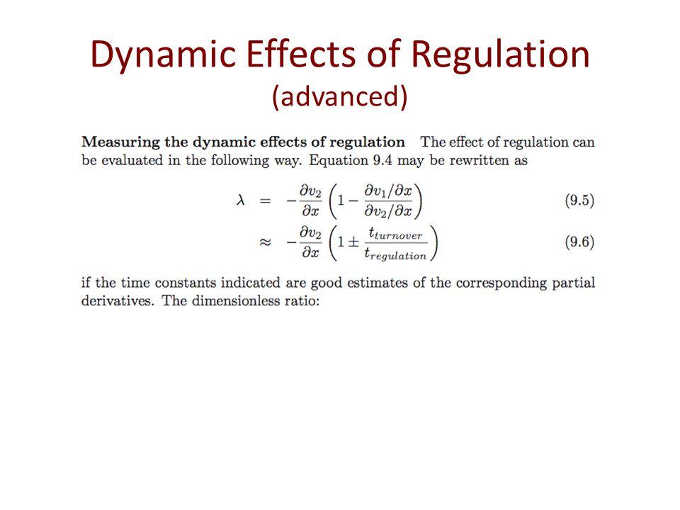Dynamic Effects of Regulation (advanced)