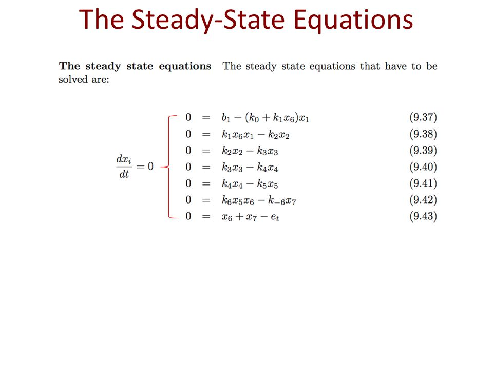 The Steady-State Equations