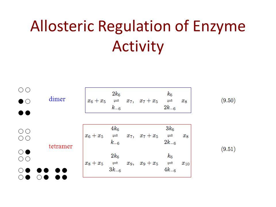 dimer tetramer Allosteric Regulation of Enzyme Activity