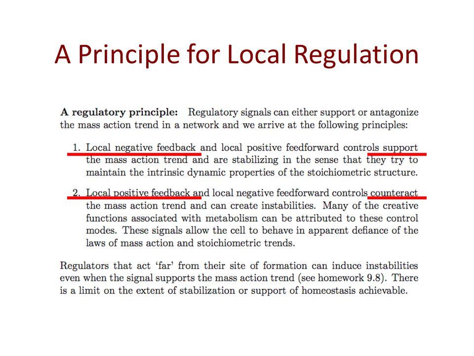 A Principle for Local Regulation