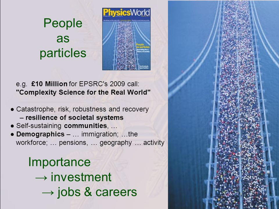 People as particles e.g.