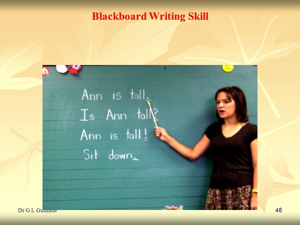 Dr G L Gulhane 46 Blackboard Writing Skill