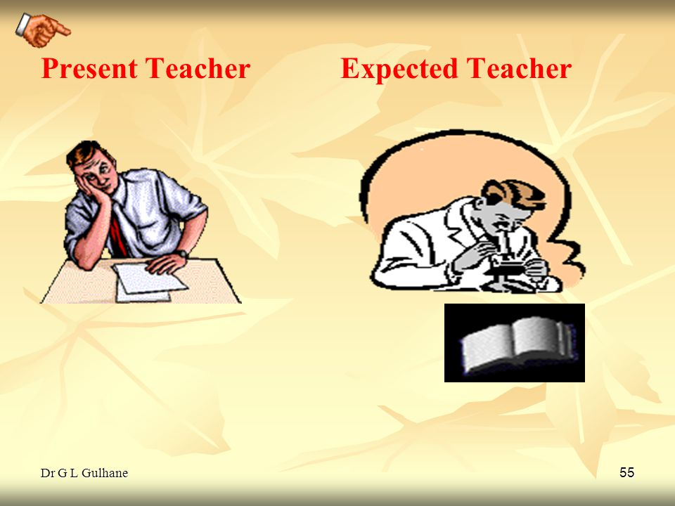 Dr G L Gulhane 55 Present Teacher Expected Teacher