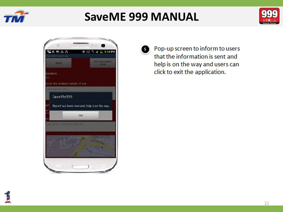 SaveME 999 MANUAL 22