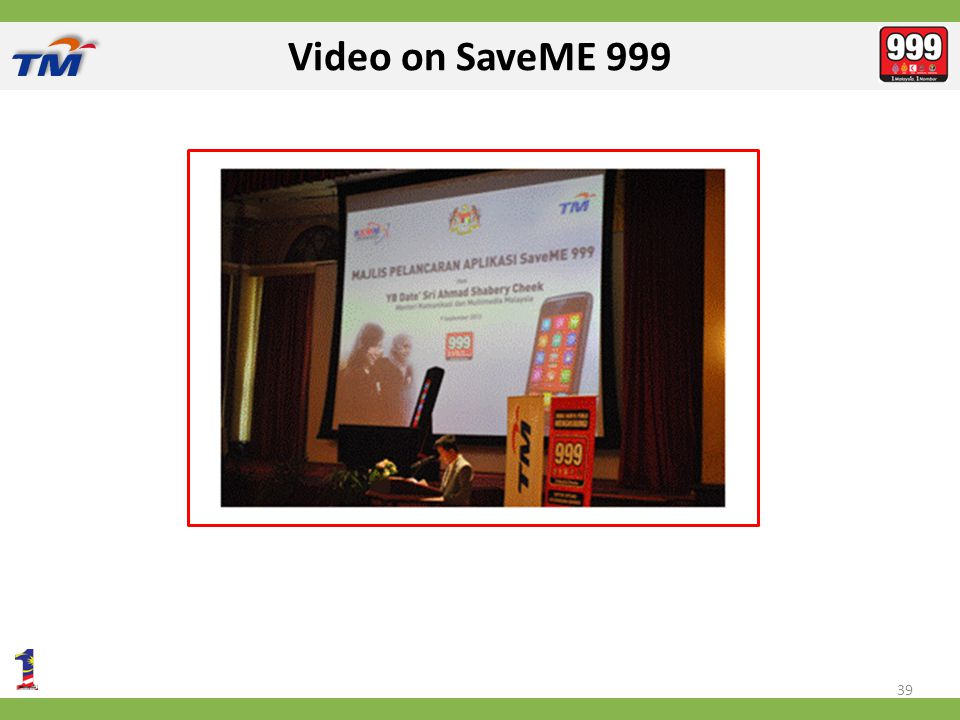 Video on SaveME 999 39