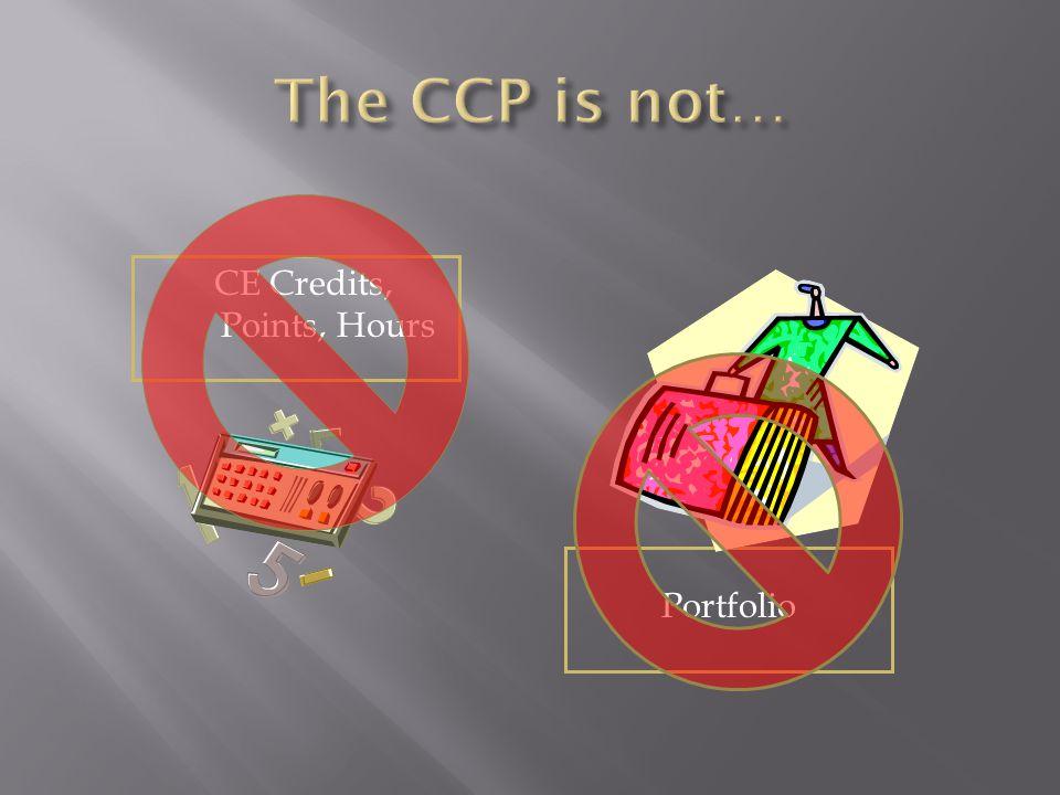 CE Credits, Points, Hours Portfolio