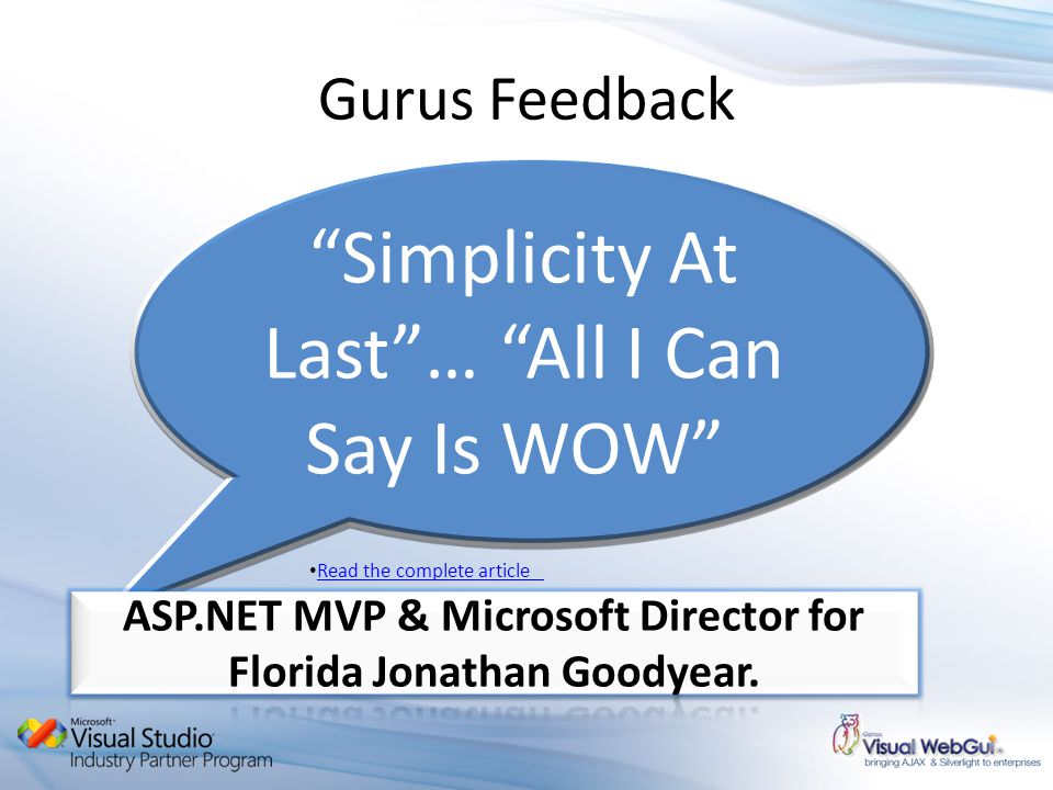 Simplicity At Last… All I Can Say Is WOW Gurus Feedback Read the complete article