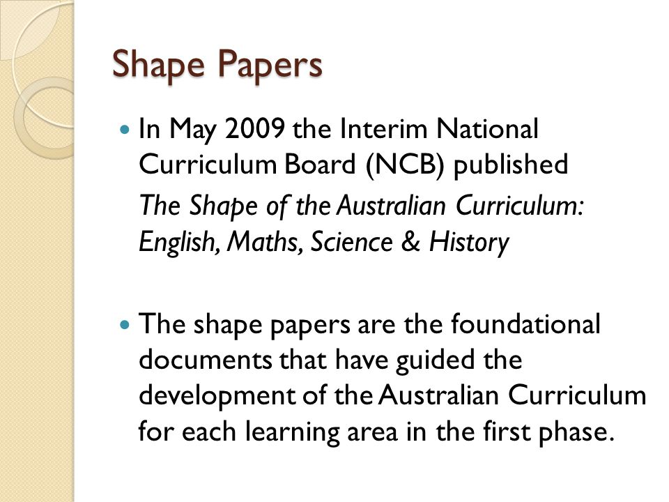 What does the Australian Curriculum Consist of.