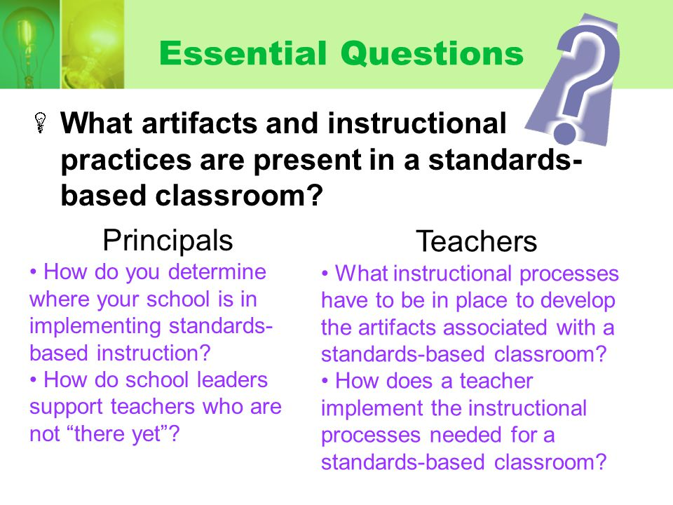 Standards Standards & EQs are posted, aligned, and referenced throughout the lesson.