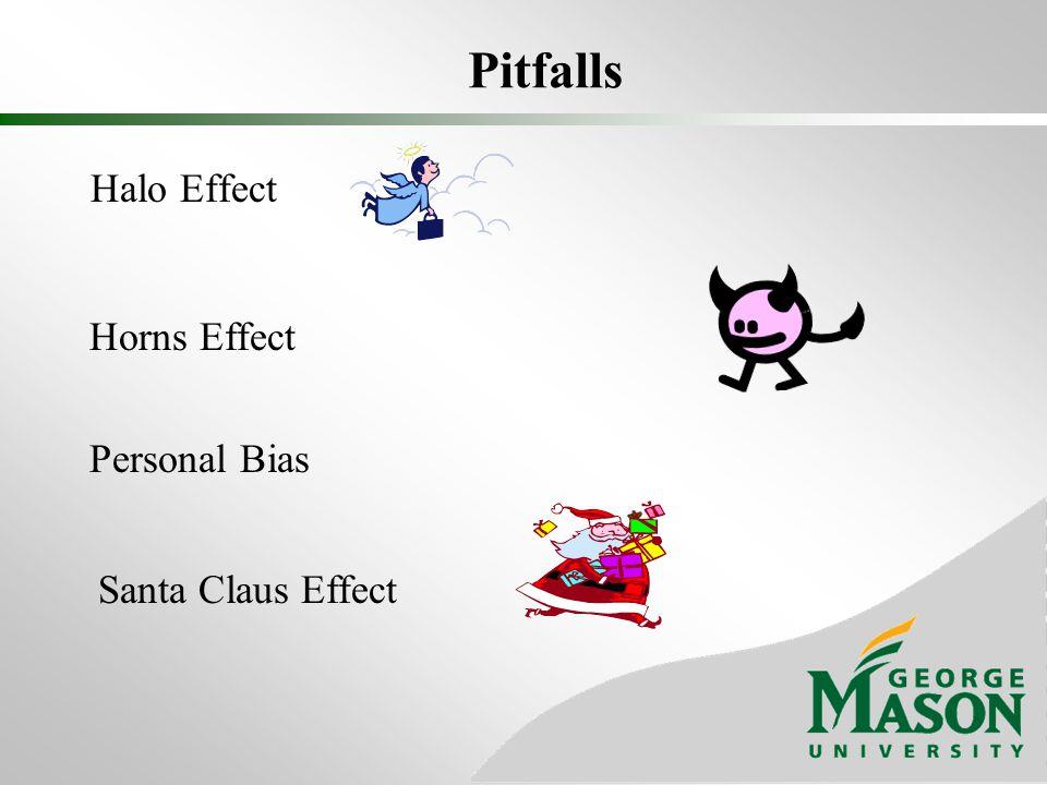 Pitfalls Halo Effect Horns Effect Personal Bias Santa Claus Effect