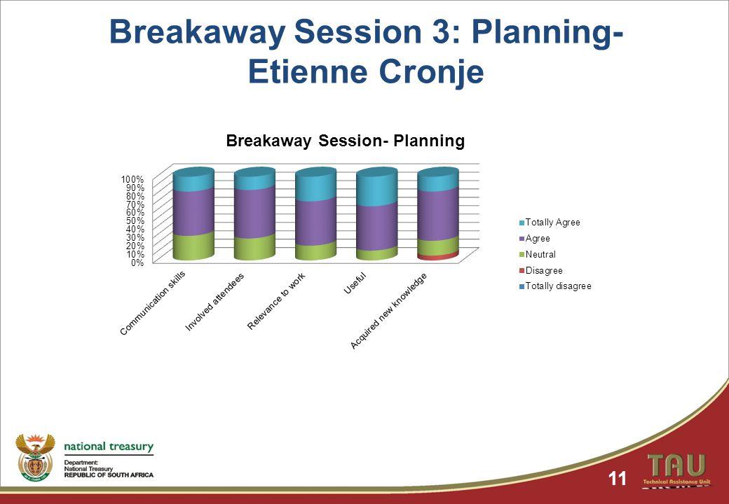 Breakaway Session 3: Planning- Etienne Cronje 11