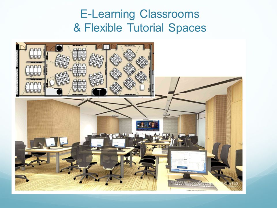E-Learning Classrooms & Flexible Tutorial Spaces
